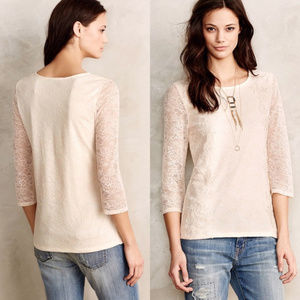 EUC Anthropologie Ardith lace top